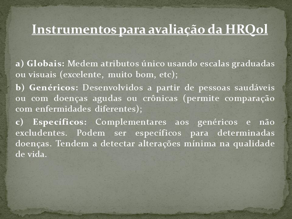Instrumentos para avaliação da HRQol