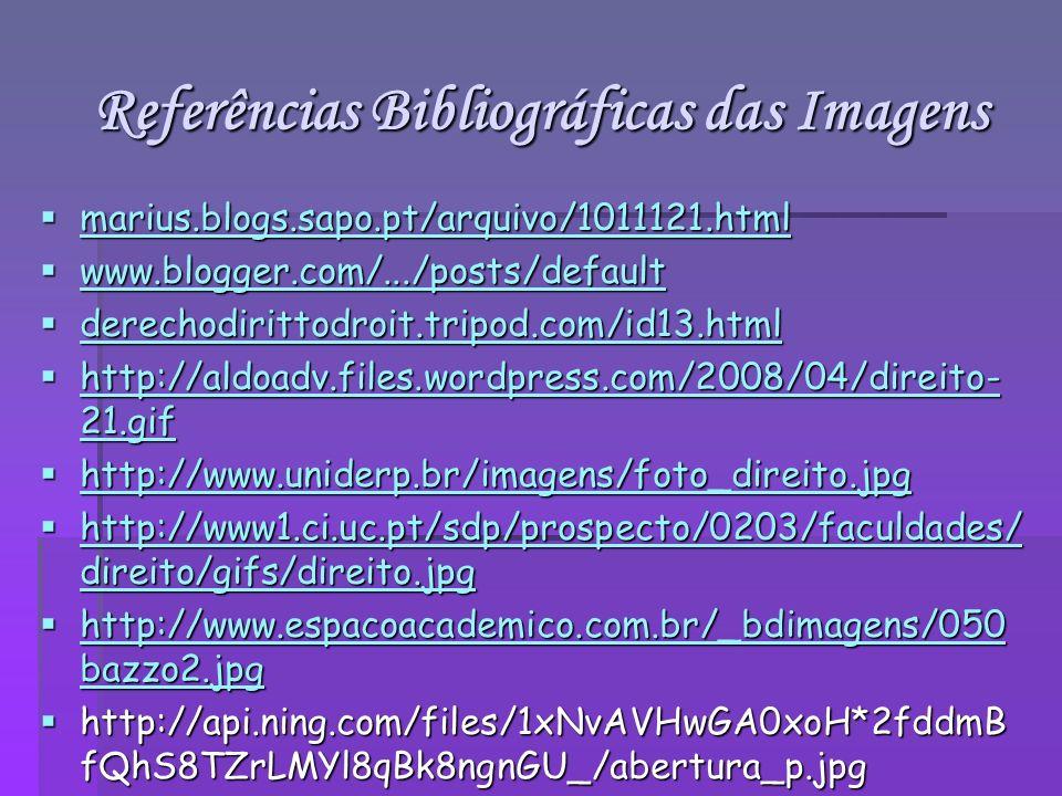 Referências Bibliográficas das Imagens