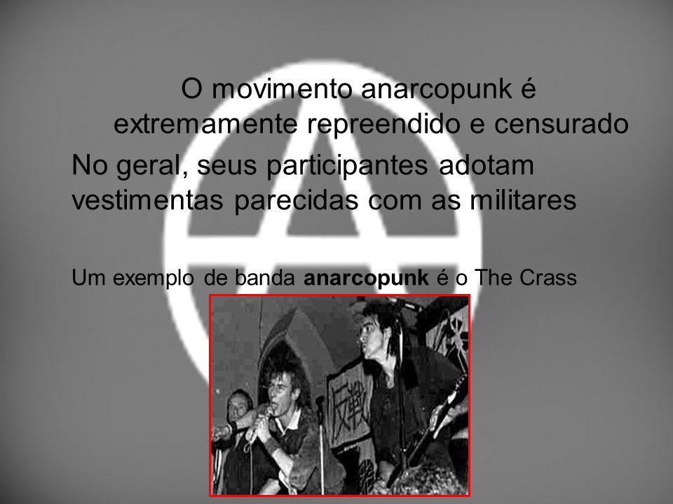 O movimento anarcopunk é extremamente repreendido e censurado