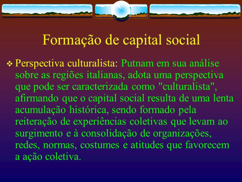 Formação de capital social