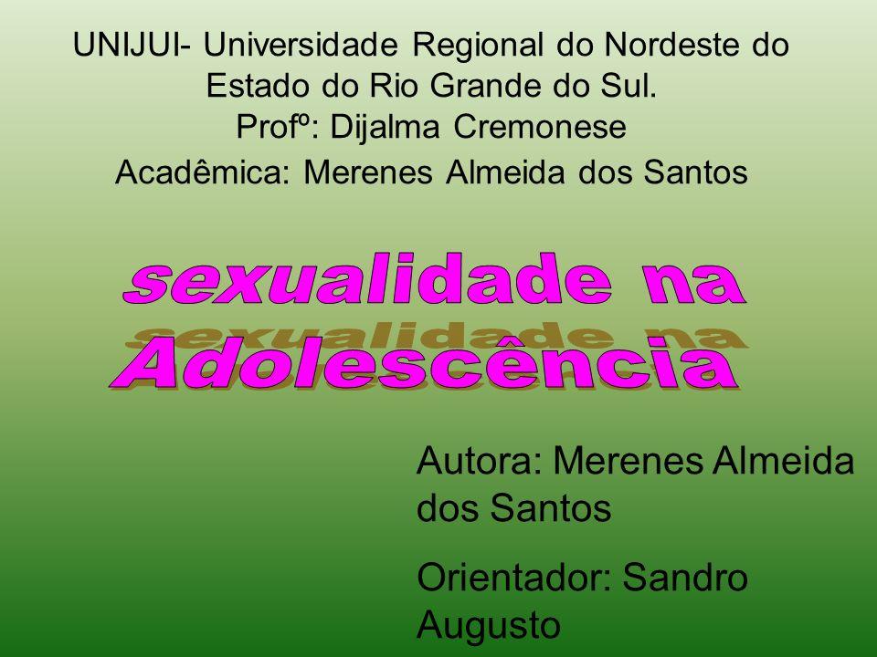 sexualidade na Adolescência Autora: Merenes Almeida dos Santos