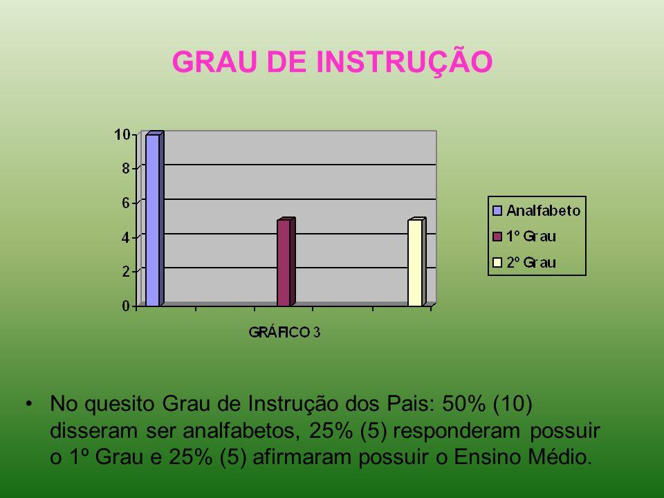 GRAU DE INSTRUÇÃO