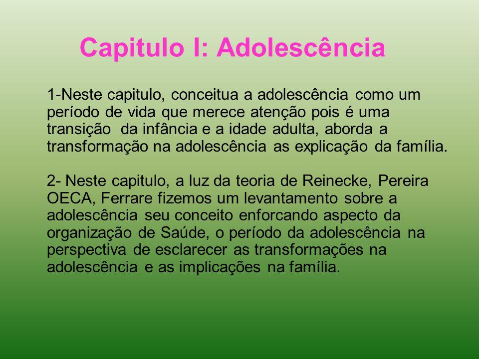 Capitulo I: Adolescência
