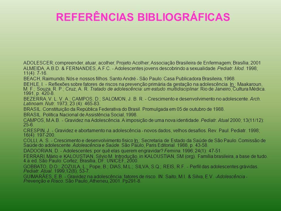REFERÊNCIAS BIBLIOGRÁFICAS