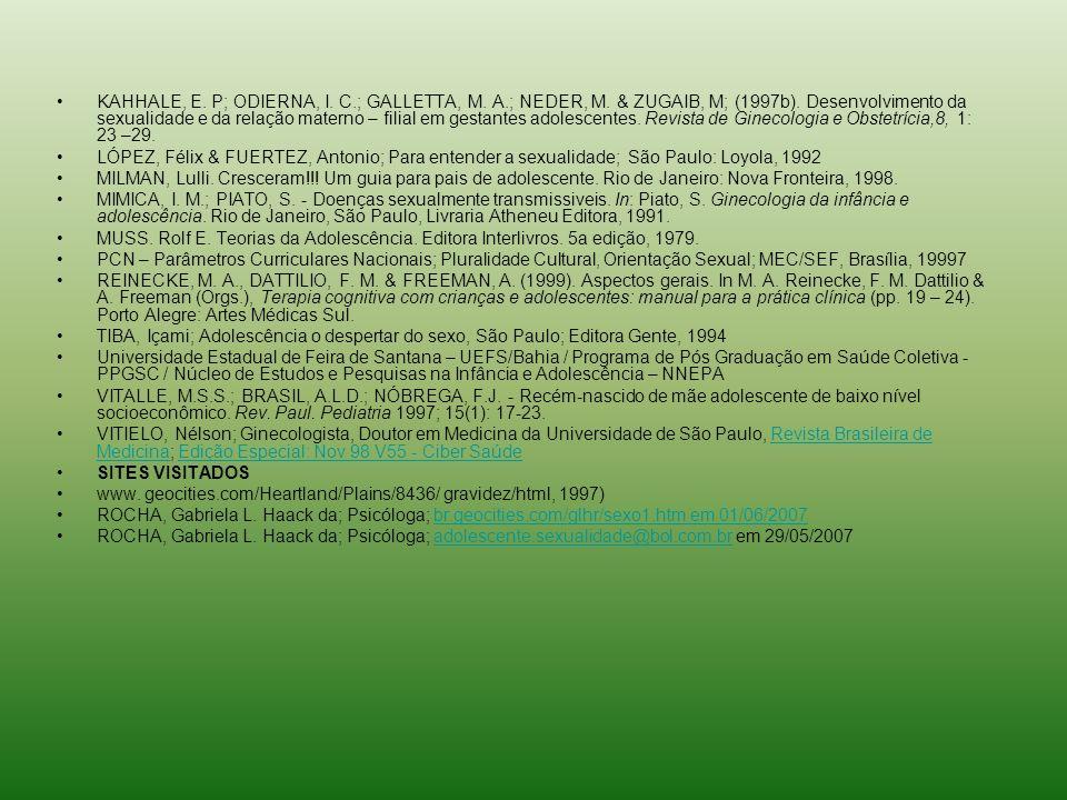 KAHHALE, E. P; ODIERNA, I. C. ; GALLETTA, M. A. ; NEDER, M