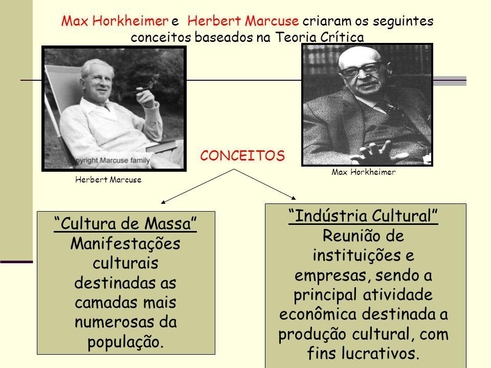 Indústria Cultural Cultura de Massa