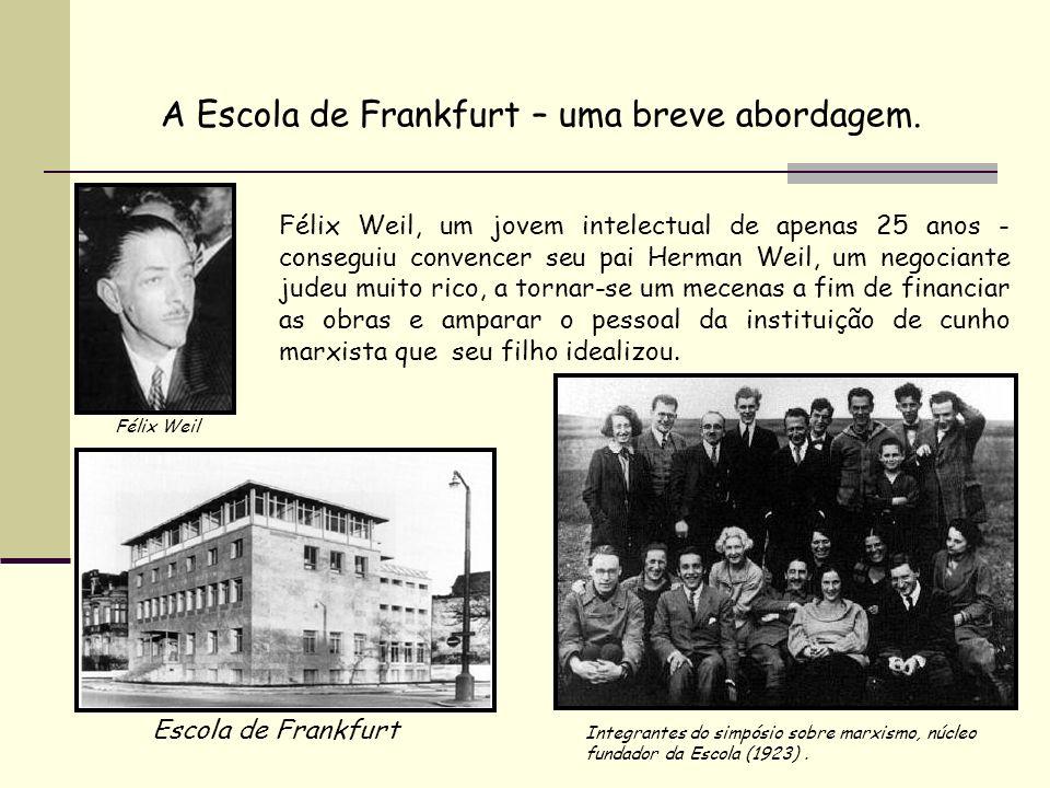 A Escola de Frankfurt – uma breve abordagem.