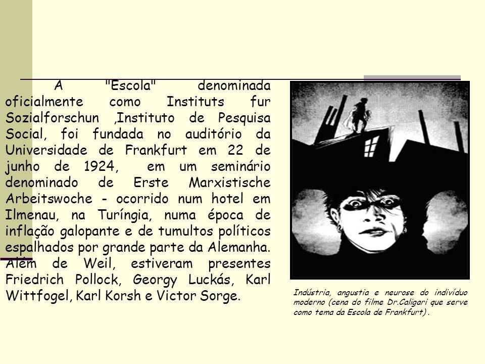 A Escola denominada oficialmente como Instituts fur Sozialforschun ,Instituto de Pesquisa Social, foi fundada no auditório da Universidade de Frankfurt em 22 de junho de 1924, em um seminário denominado de Erste Marxistische Arbeitswoche - ocorrido num hotel em Ilmenau, na Turíngia, numa época de inflação galopante e de tumultos políticos espalhados por grande parte da Alemanha. Além de Weil, estiveram presentes Friedrich Pollock, Georgy Luckás, Karl Wittfogel, Karl Korsh e Victor Sorge.
