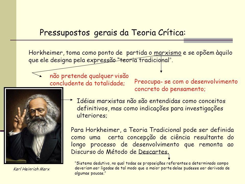 Pressupostos gerais da Teoria Crítica: