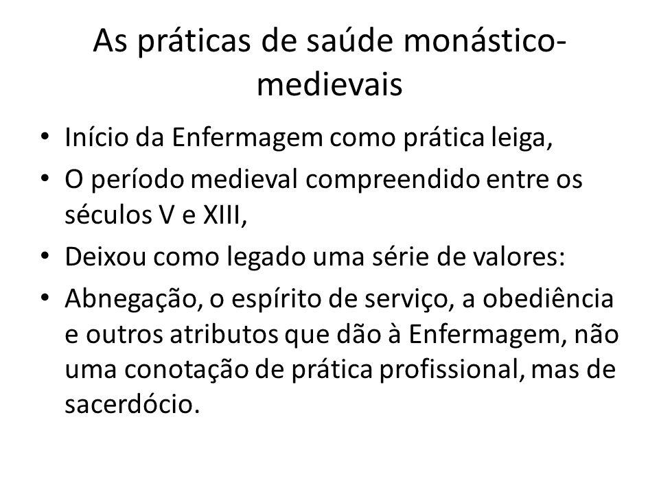 As práticas de saúde monástico-medievais