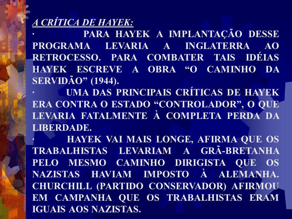 A CRÍTICA DE HAYEK: