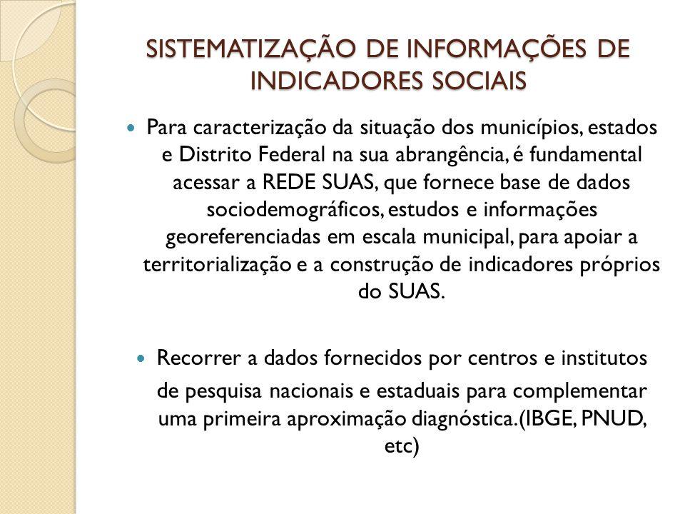 SISTEMATIZAÇÃO DE INFORMAÇÕES DE INDICADORES SOCIAIS