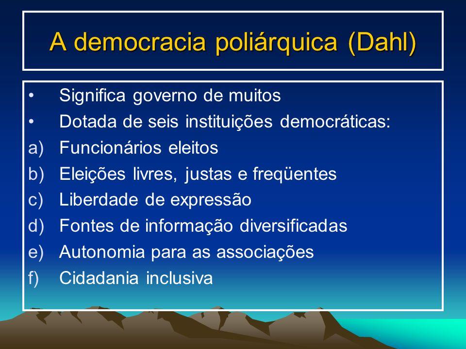 A democracia poliárquica (Dahl)