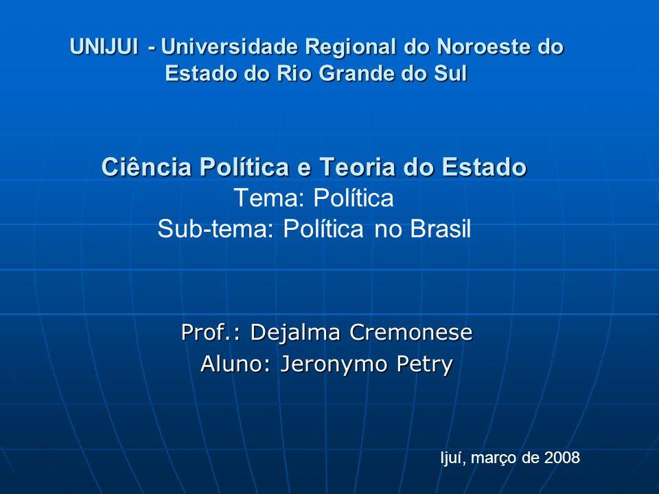 Prof.: Dejalma Cremonese Aluno: Jeronymo Petry