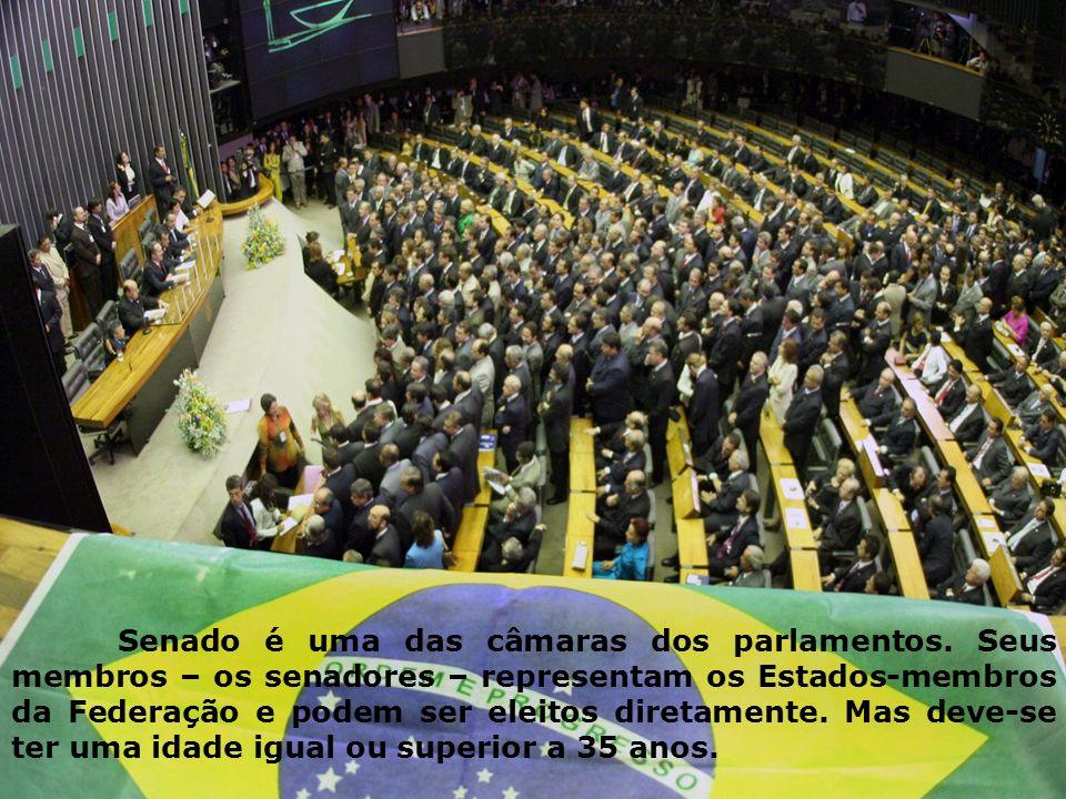 Senado é uma das câmaras dos parlamentos