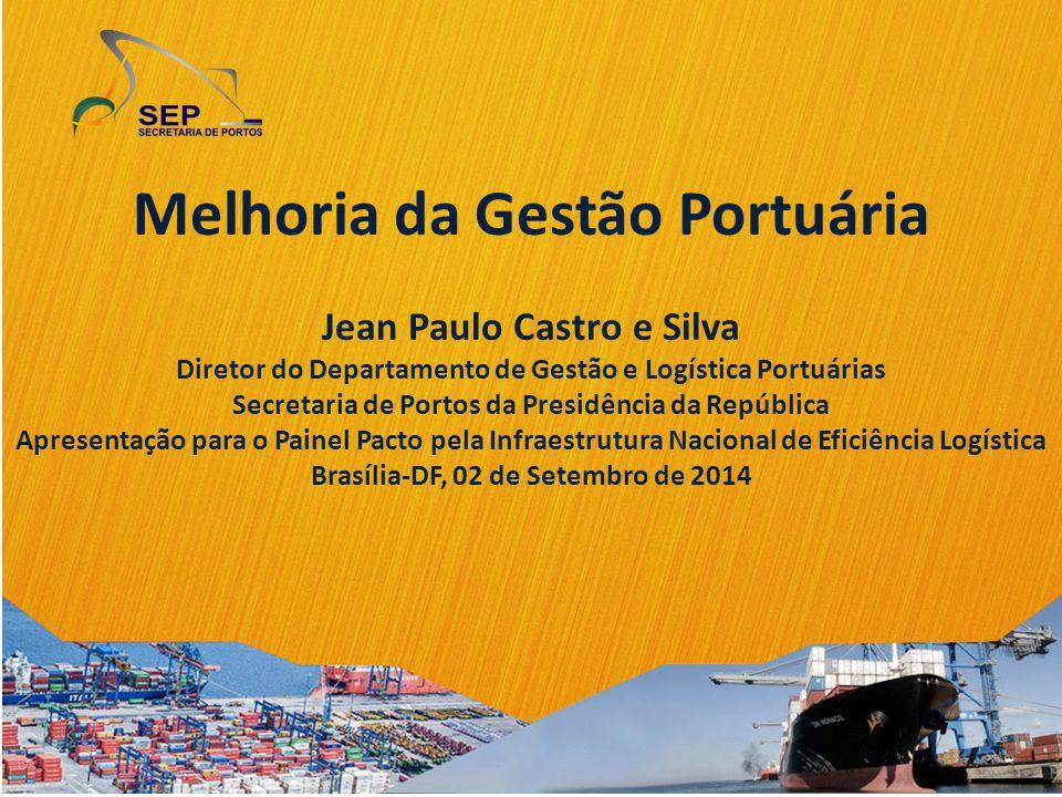 Melhoria da Gestão Portuária Jean Paulo Castro e Silva