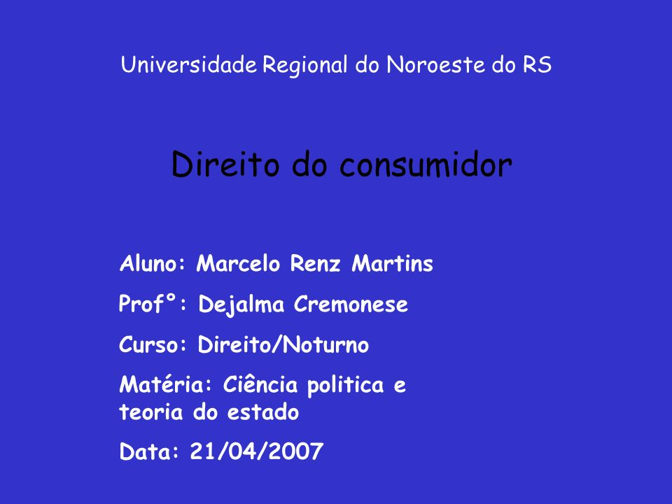 Universidade Regional do Noroeste do RS