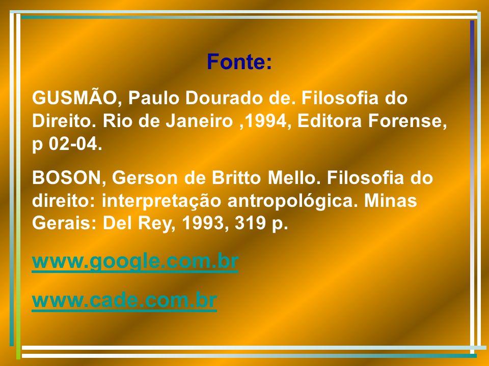 Fonte: www.google.com.br www.cade.com.br