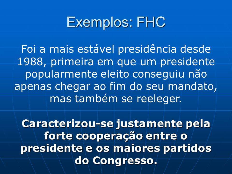 Exemplos: FHC