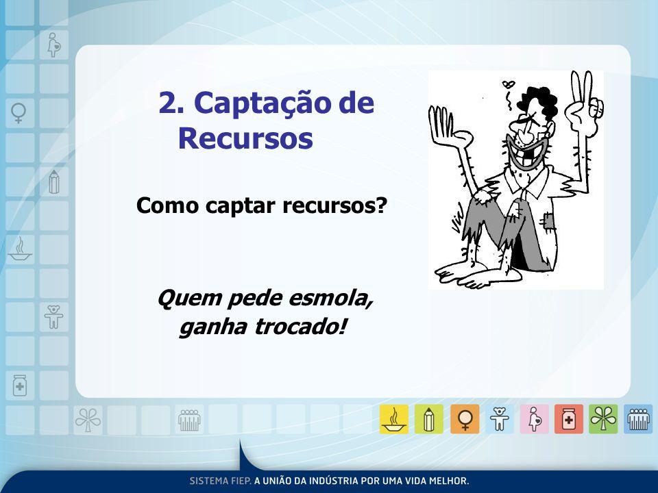 2. Captação de Recursos Como captar recursos Quem pede esmola,