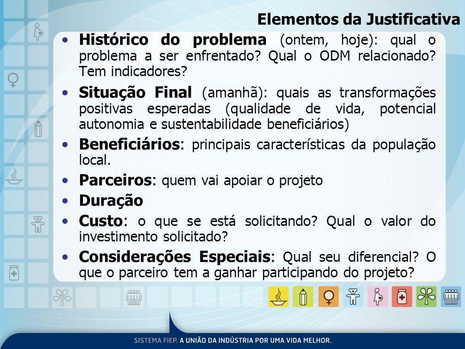 Elementos da Justificativa