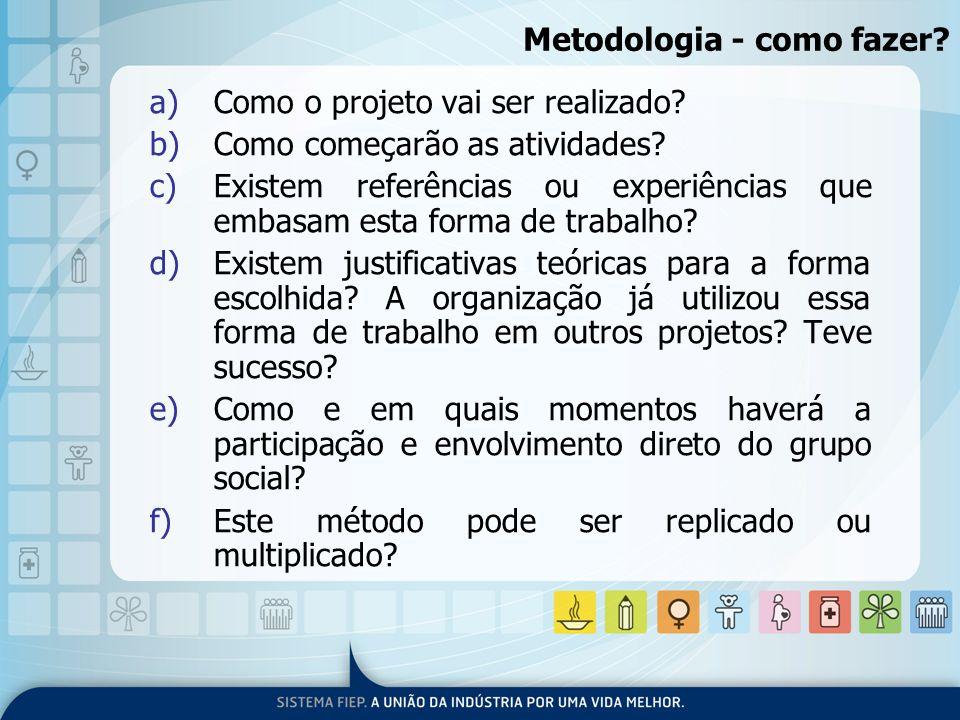 Metodologia - como fazer