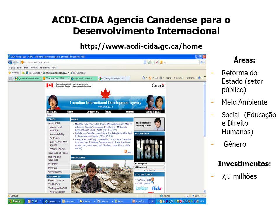 ACDI-CIDA Agencia Canadense para o Desenvolvimento Internacional