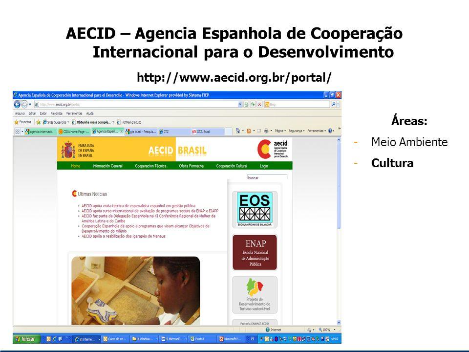 AECID – Agencia Espanhola de Cooperação Internacional para o Desenvolvimento