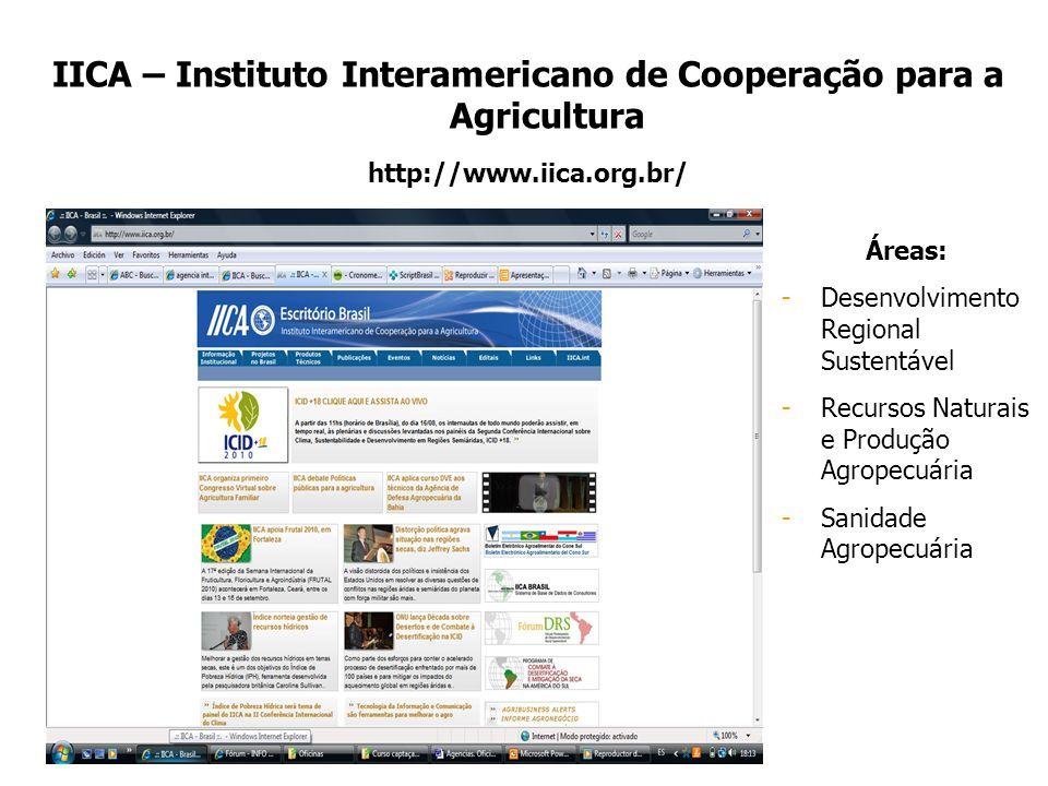 IICA – Instituto Interamericano de Cooperação para a Agricultura