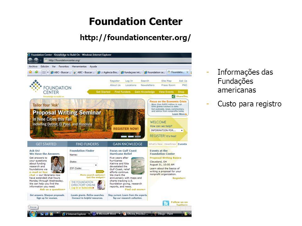Foundation Center http://foundationcenter.org/