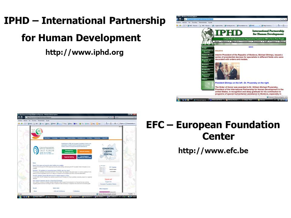 IPHD – International Partnership EFC – European Foundation Center