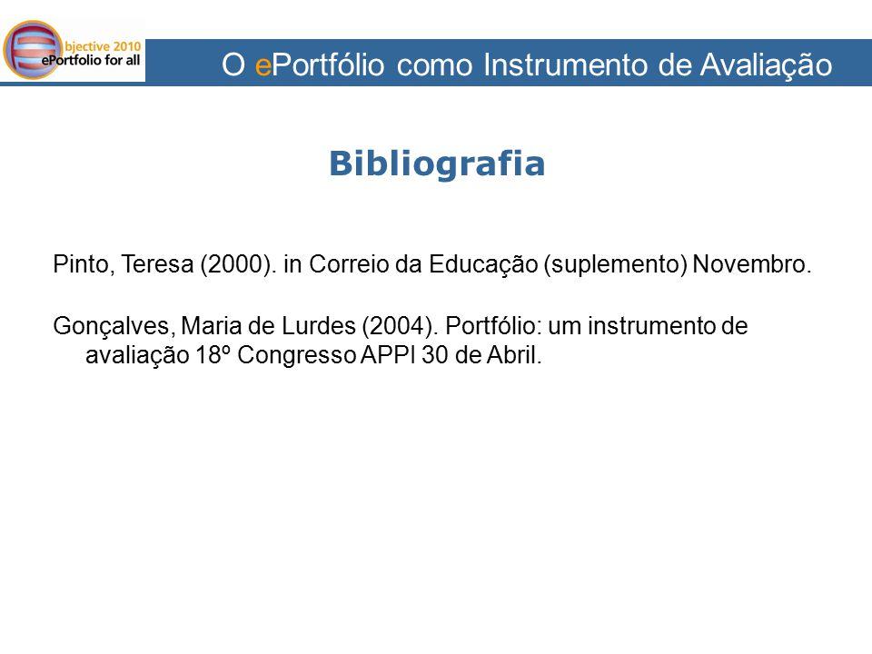 Bibliografia O ePortfólio como Instrumento de Avaliação