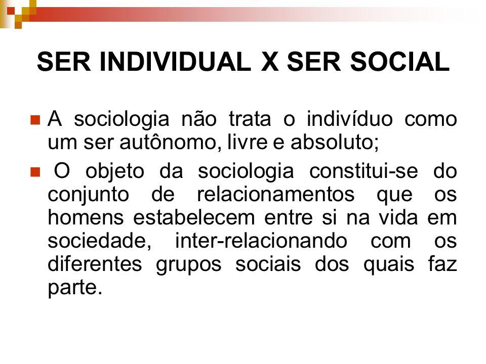 SER INDIVIDUAL X SER SOCIAL