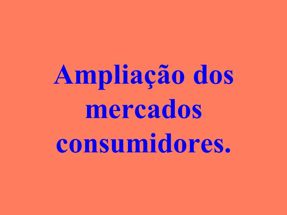 Ampliação dos mercados consumidores.