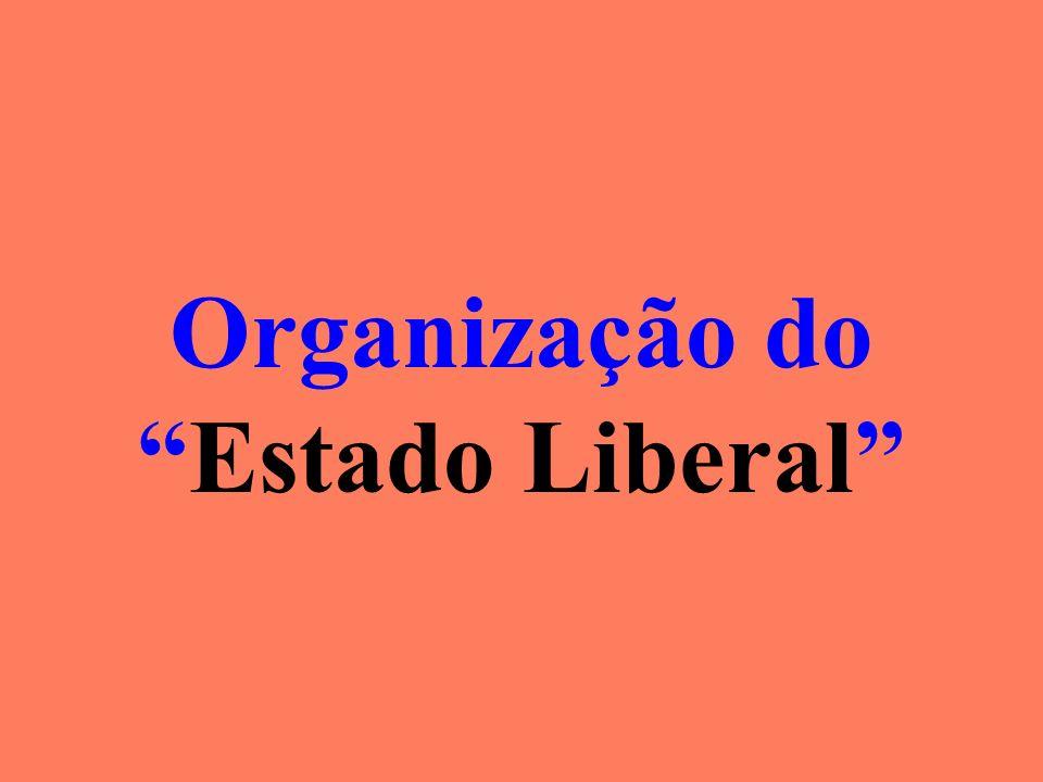 Organização do Estado Liberal