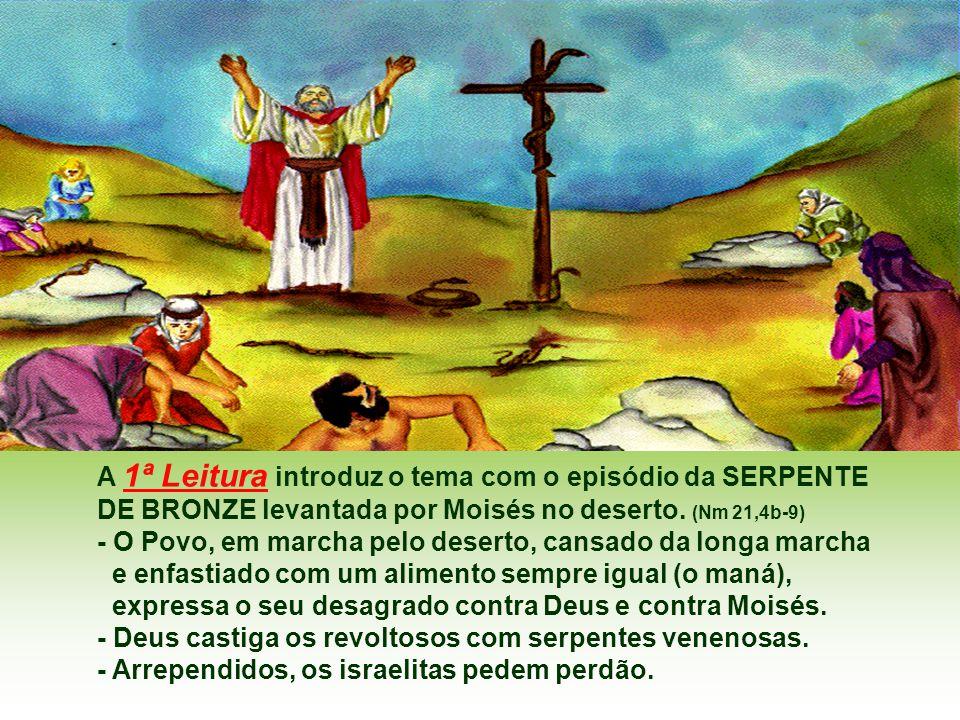 A 1ª Leitura introduz o tema com o episódio da SERPENTE
