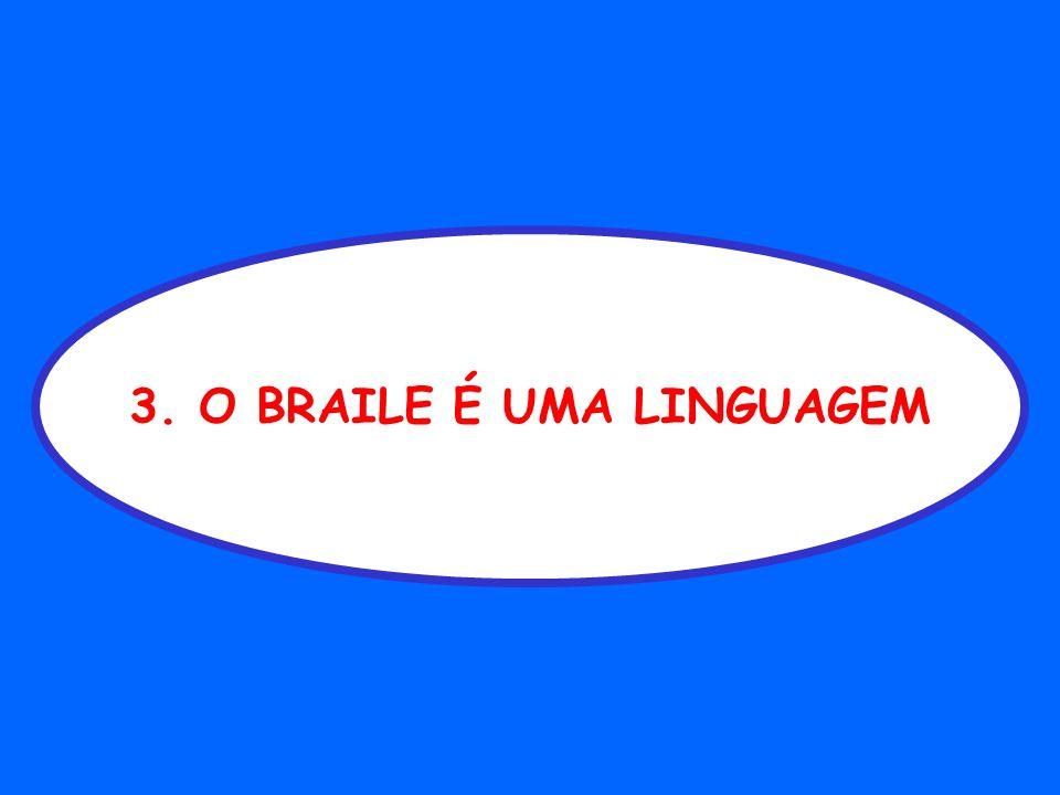 3. O BRAILE É UMA LINGUAGEM