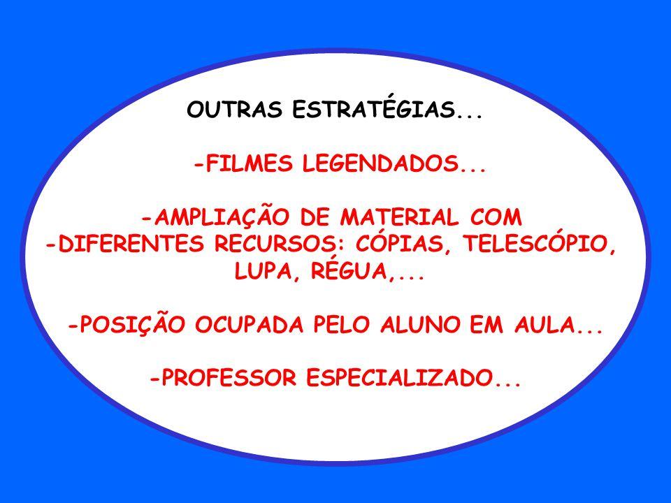 -AMPLIAÇÃO DE MATERIAL COM -DIFERENTES RECURSOS: CÓPIAS, TELESCÓPIO,