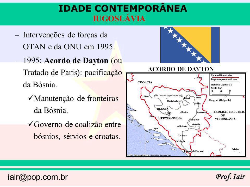Intervenções de forças da OTAN e da ONU em 1995.