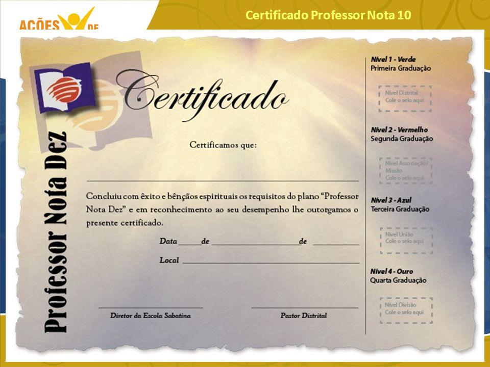 Certificado Professor Nota 10