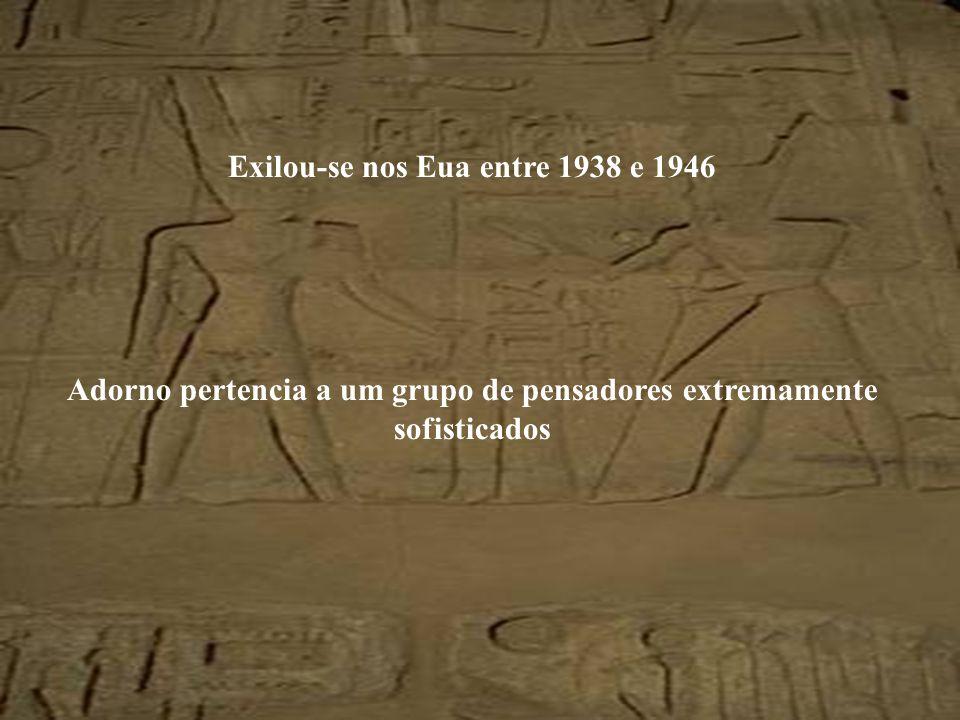Exilou-se nos Eua entre 1938 e 1946