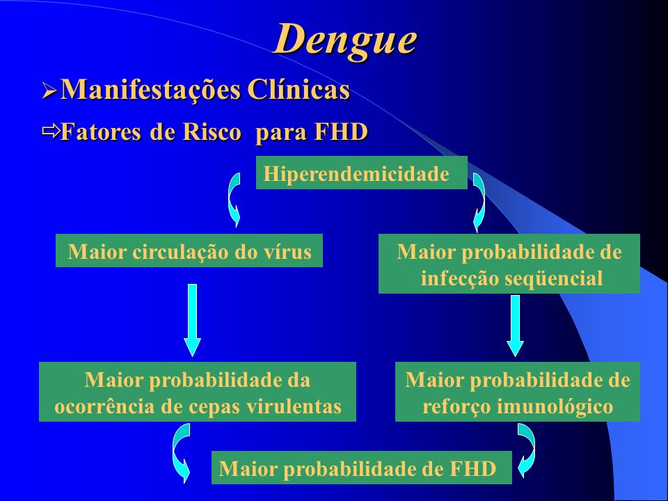 Dengue Manifestações Clínicas Fatores de Risco para FHD