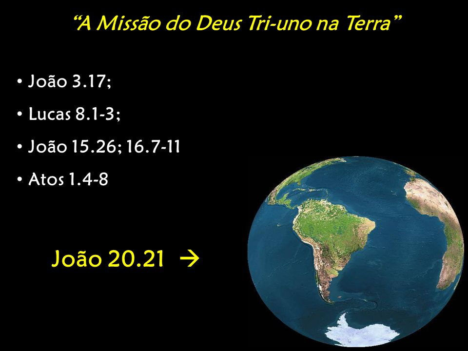 A Missão do Deus Tri-uno na Terra