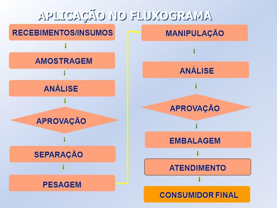 APLICAÇÃO NO FLUXOGRAMA