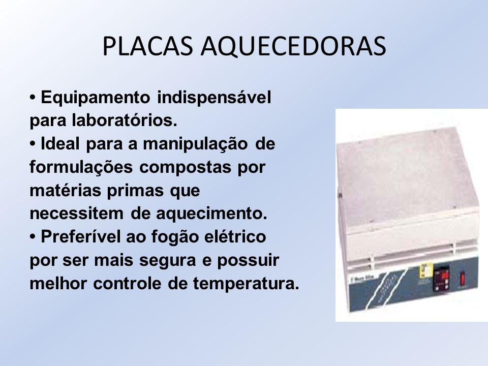 PLACAS AQUECEDORAS • Equipamento indispensável para laboratórios.