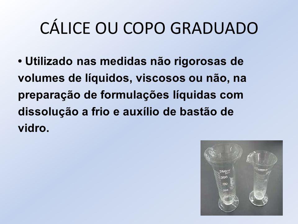 CÁLICE OU COPO GRADUADO