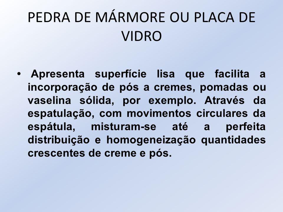 PEDRA DE MÁRMORE OU PLACA DE VIDRO