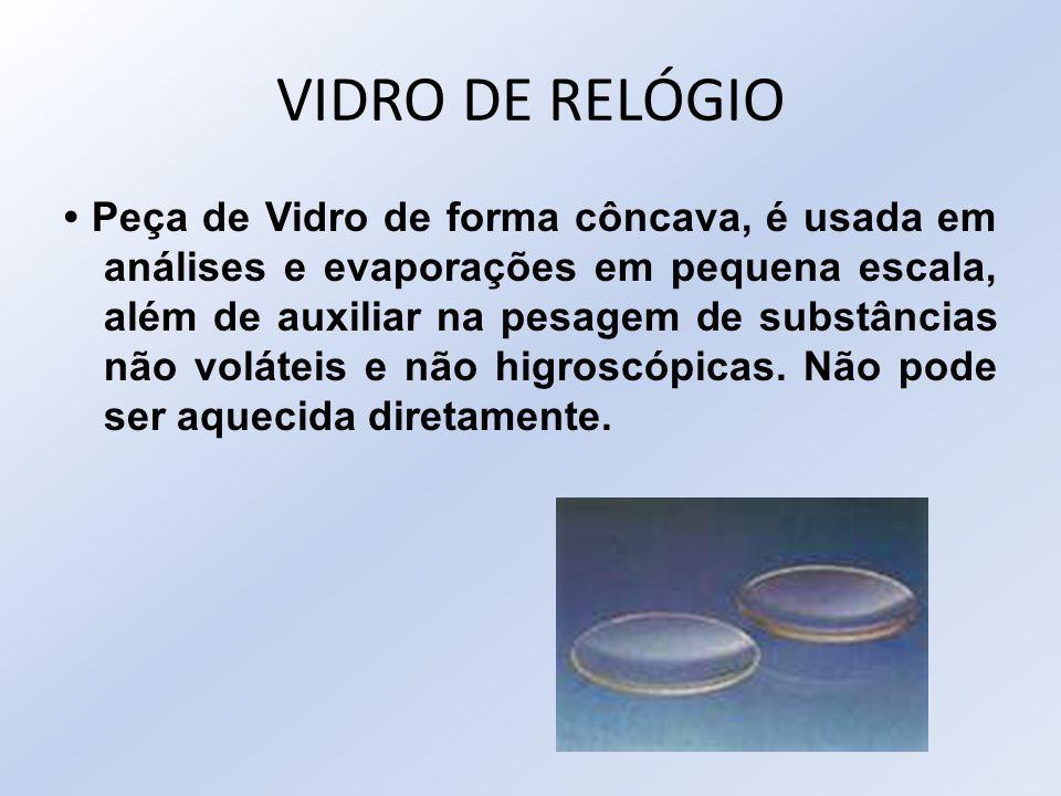 VIDRO DE RELÓGIO