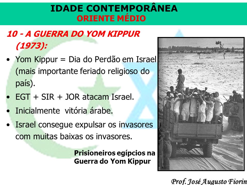 10 - A GUERRA DO YOM KIPPUR (1973):