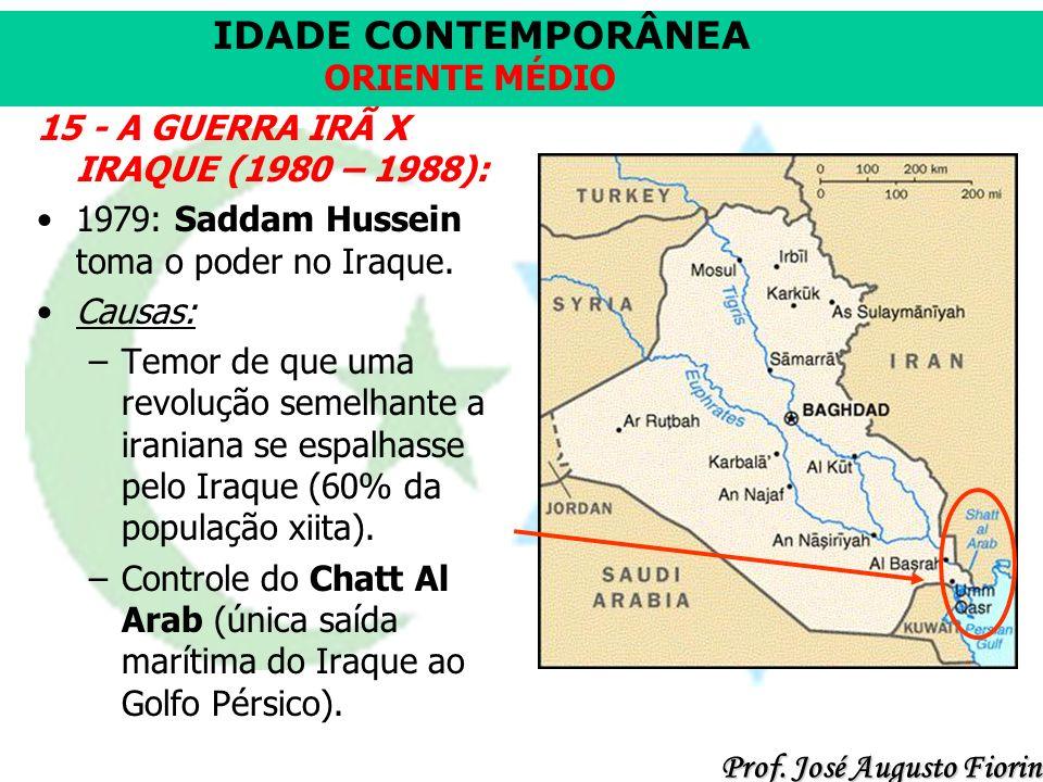 15 - A GUERRA IRÃ X IRAQUE (1980 – 1988):
